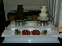 2 x sephra chocolate fountains and LED surround