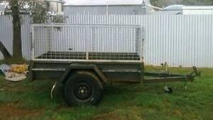 6x4 SINGLE AXLE BOX TRAILER C/W CAGE Goroke West Wimmera Area Preview