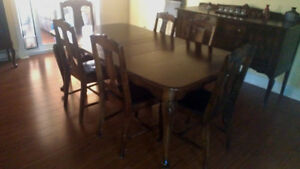 Antique Knetchel Dining Set plus China Cabinet and Cuttlery Desk Gatineau Ottawa / Gatineau Area image 5