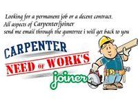 NEED WORK-> CARPENTER or JOINER