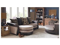 brand new chaise sofa and swivel chair cost £899£399 free delivery 7534UB