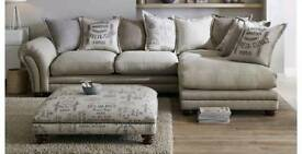 DFS Ranch Fabric Corner Sofa & Foot Stool