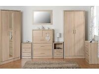 GET IT NOW New light oak effect 3+2 drawer chest £119