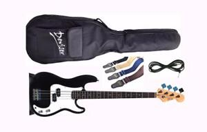 Electric Bass Guitar Brand New Black iMEB260 Full size iMusicGuitar