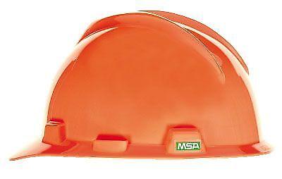 Msa Safety 488146 V Gard Hi Viz Orange Protective Cap W  Fas Trac Iii Suspension