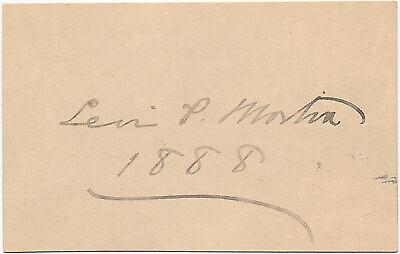 Levi P MORTON / Signature