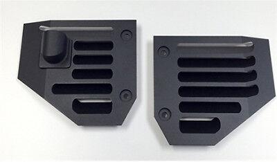 Hummer H2 & SUT Billet Aluminum Black Powder Coated Side Air Vent Set - Pair   Billet Aluminum Air Vent