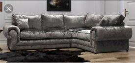 Luxury Scs Ashley corner sofa with FREE FOOTSTOOL