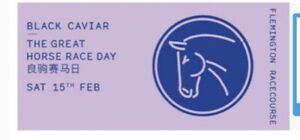 4 x Tickets to Black Caviar - The Great Horse Race Day