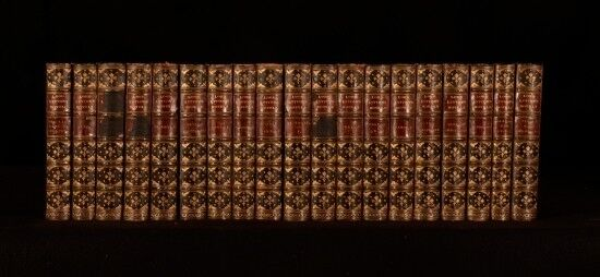 c1874 19vols Set of Lord Lytton's Novels With Frontispieces