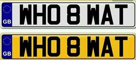 WHO ATE WHAT? A VERY UNIQUE AND UNUSUAL PRIVATE NUMBER PLATE FOR SALE