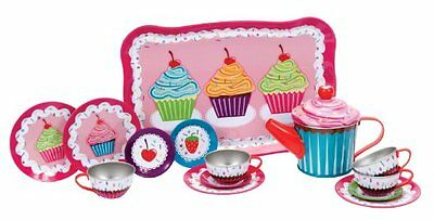 Childrens Tea Set Schylling Cupcakes Tin Tea Set Toddler Toy Gift For Girl 15 Pc