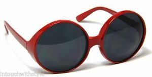 Oversized-Huge-Sunglasses-Red-Round-Retro-Designer-Fashion-Vintage