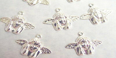 100 Gold Plated Brass Rafael/'s Angel Charms 17x11mm  *