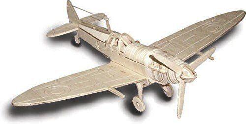 Spitfire: Woodcraft Quay Construction Wooden 3D Model Kit P301 Age 7 plus