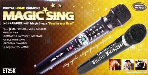 Magic Sing ET25K 2300 Tagalog English song karaoke wired Mic + FREE WIRELESS MIC