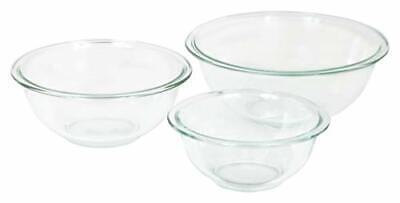 Pyrex Glass Mixing Bowl Set (3-Piece Set, Nesting, Microwave and Dishwasher Safe