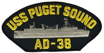 USS PUGET SOUND AD-38 PATCH USN NAVY SHIP SAMUEL GOMPERS CLASS DESTROYER TENDER