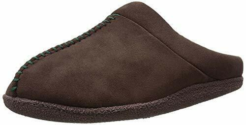 Dearfoams Men's Microfiber Suede Mule Slippers