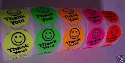 1250 Thank You Label Sticker 5 Colors