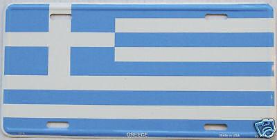 Greece Flag Car Aluminum Auto License Plate New