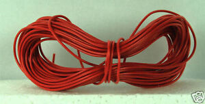 Model Railway/Railroad Layout/Point Motor etc Wire 1x10m Roll 7/0.2mm 1.4A Red