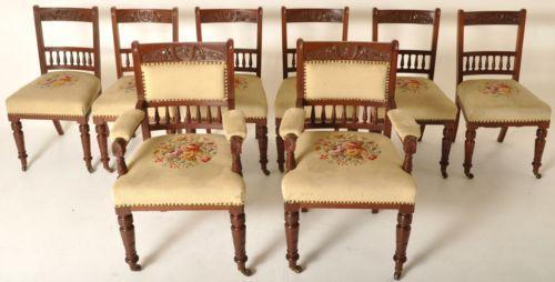 Antique Walnut Dining Chairs Ebay