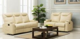 New Cream lazyboy recliner sofa suites 3 + 2 seater