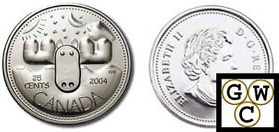 2004 Special Moose Canada Day 25 Cent Coin Coin Only  10850