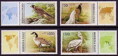 Burkina Faso Birds with labels MI#1406-09