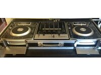 Selling 2 Numark NDX 900 CD/MP3/USB midi controller and Numark M6 USB mixer in a flight case.