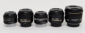 NIKON 50mm lenses f1.4 and 1.8 models D, G, AI-S and Sigma f1.4