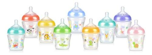 Nuby Natural Touch Infant Bottle - Silicone Nipple - Reduces Colic -  6oz/180ml