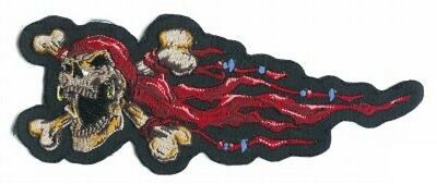 tenkopf Links 17x6 cm Pirate Skull Left Patch Jacke Weste  (Piraten-jacke Frauen)