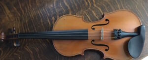 c1900 4/4 French violin, Mirecourt, unlabelled $1200 firm
