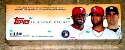2010 TOPPS COMPLETE SET BASEBALL FACTORY SEALED 661 CARDS