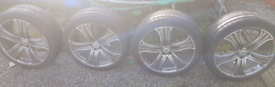 Land rover range rover sport alloy wheels with tyres 285 35 22
