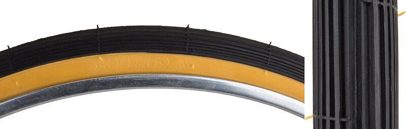 """Sunlite Road Raised Center Tires, 26 x 1-3/8"""", Black/Gum"""