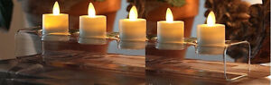4 CHANDELIERS EN VERRE 4 GLASS CONTEMPORARY TEA LIGHTS HOLDERS