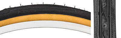 26 X 1 3/8 Road Bike Bicycle Fixie Tire Set 2 Tires 2 Tubes & Strips Gum Wall