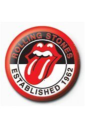 Rolling Stones Established 1962 25mm Mteal Pin Button Badge Licensed Product