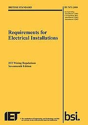 17th Edition Wiring Regulations BS7671 3rd Amendment (New)