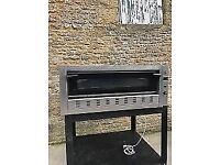 gas pizza oven unit on stand