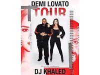 Demi Lovato Manchester 2 x Tickets - BLOCK NEAREST STAGE