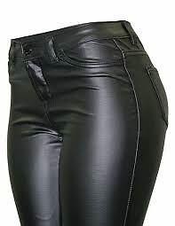 cielo jeans vegan leather stretch pants women black