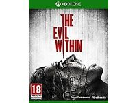XBOX ONE - THE EVIL WITHIN - NEW - £5 ONLY