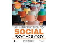 Introduction to social psychology: sixth edition by Hewstone, Stroebe and Jonas. Very good condition