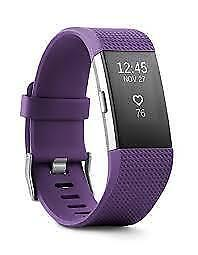 Fitbit charge 2 ( Large ) (purple) Heartrate + fitness wristband   brand new sealed.