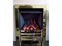 Legend Vantage 3.9 kw Coal Effect Inset Gas Fire c/w Rotary Control ( Brass )
