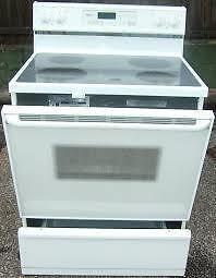 "\ \   WHIRLPOOL SMOOTH TOP STOVE   / /  Used Appliance ""SALE""   9267 - 50 Street Edmonton"